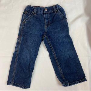 3/$20 OSHKOSH Toddler Carpenter Pants Blue Denim 3